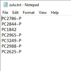 Listado de ordenadores
